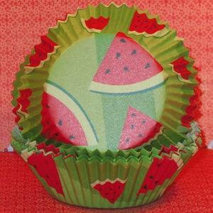 Watermelon Baking Cups 72 Oversized paper Summer